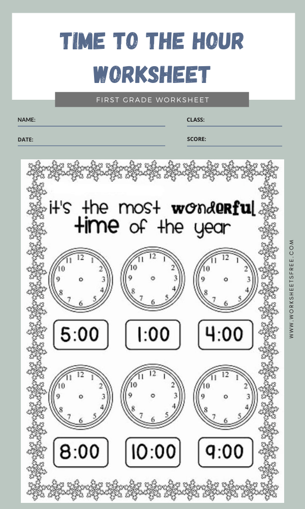 Time To The Hour Worksheet 2