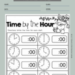 Time To The Hour Worksheet 3