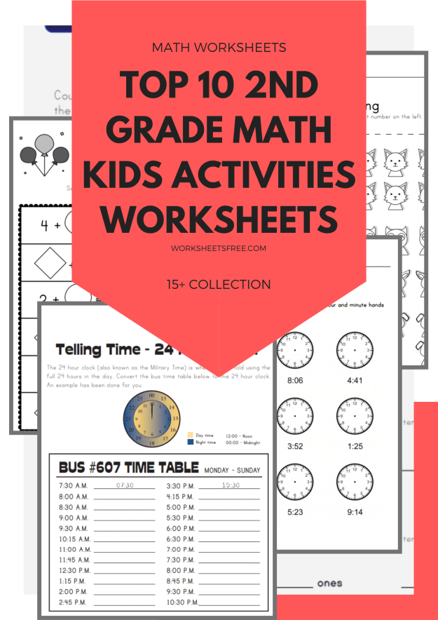 Top 10 2nd Grade Math Kids Activities Worksheets