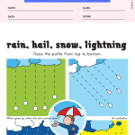 Tracing Lines Worksheet - Weather