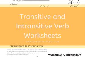 Transitive and Intransitive Verb Worksheets