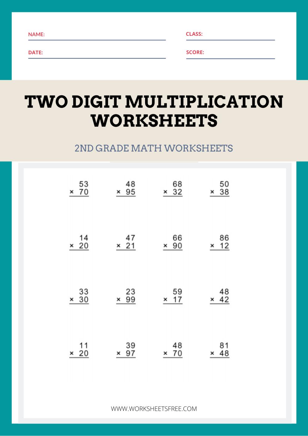 medium resolution of Two-Digit-Multiplication-Worksheets   Worksheets Free