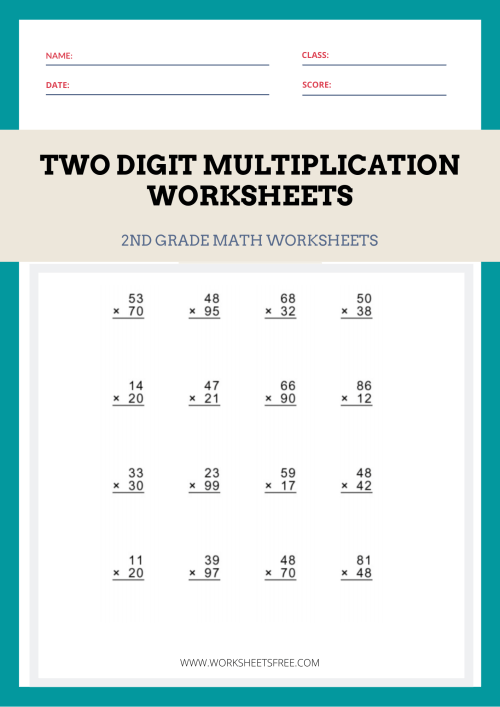 small resolution of Two-Digit-Multiplication-Worksheets   Worksheets Free