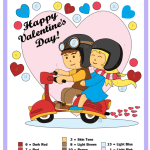Valentine's Day Color by Number Worksheets Couple Fix Colloring