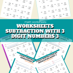 Worksheets Subtraction with 3 Digit Numbers 3