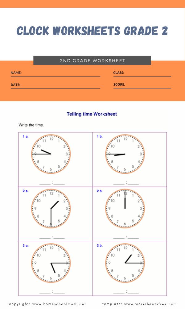 clock worksheets grade 2 1