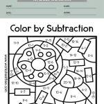 color by number math worksheets 1st grade 3