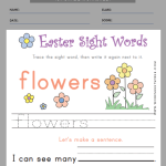 easter worksheets for first grade 1