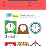 free clock worksheets for first grade 4
