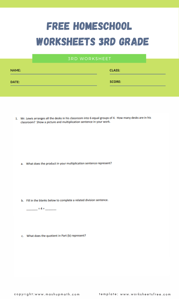 free homeschool worksheets 3rd grade 1