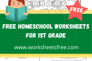 free homeschool worksheets for 1st grade