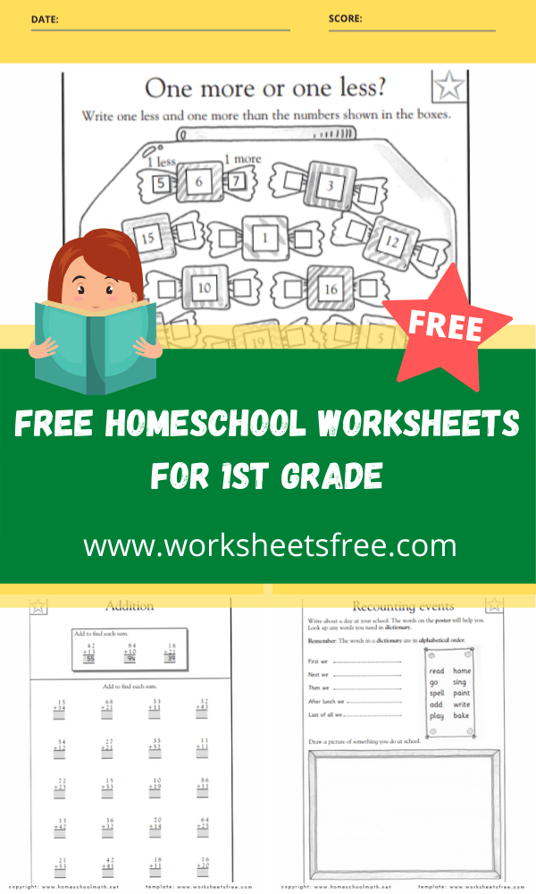 free homeschool worksheets for 1st grade