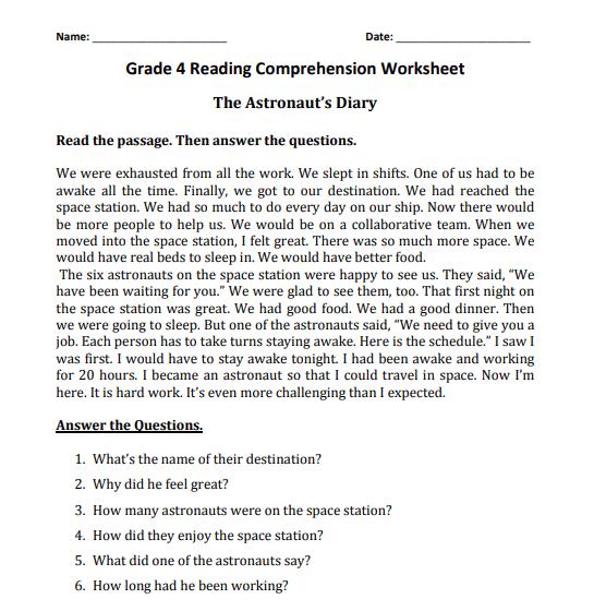 grade 4 reading comprehension worksheets pdf3