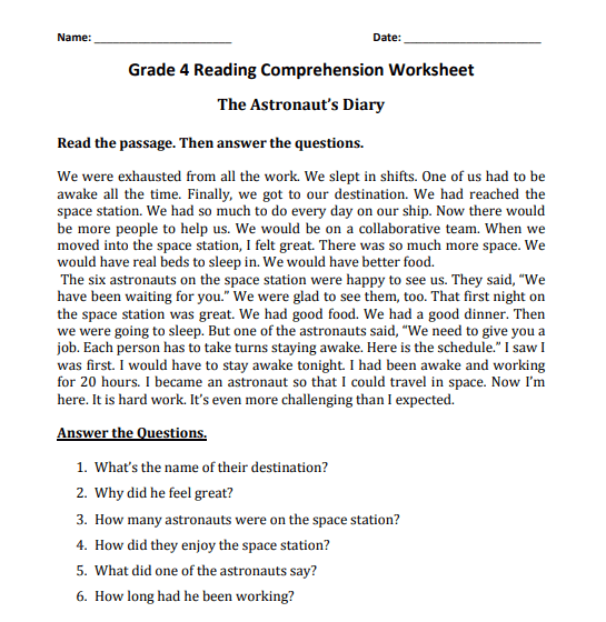 grade 4 reading comprehension worksheets pdf3