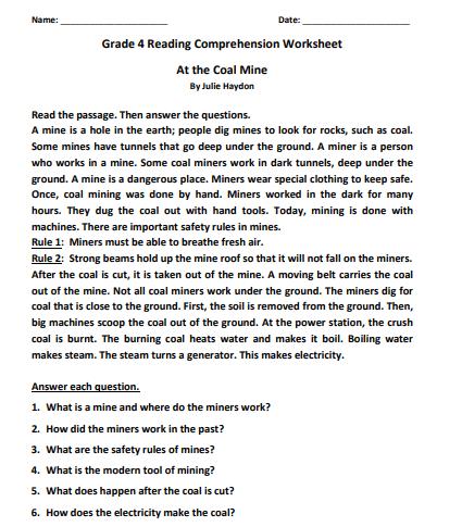 grade 4 reading comprehension worksheets pdf4