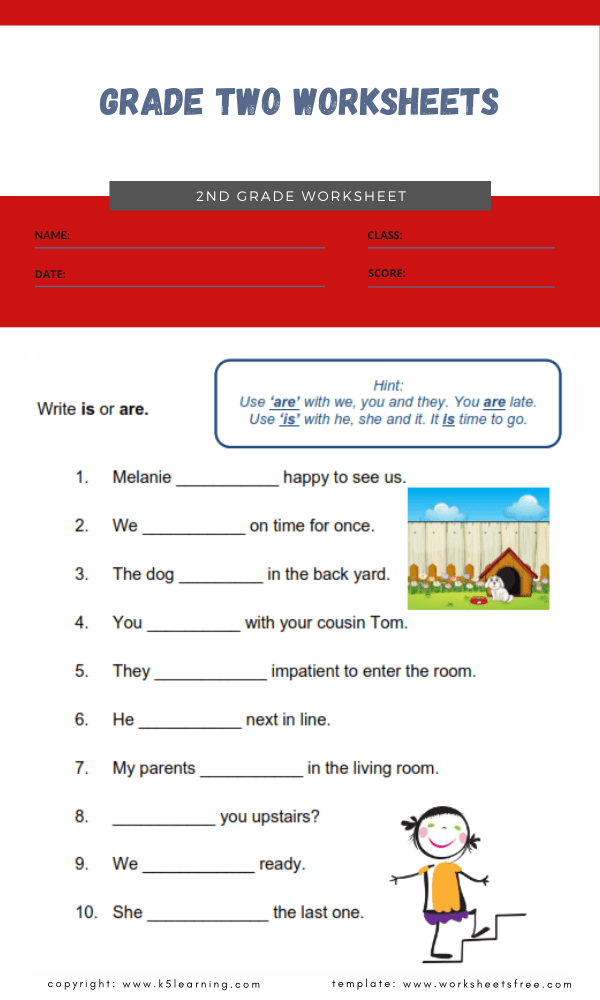 grade two worksheets 2