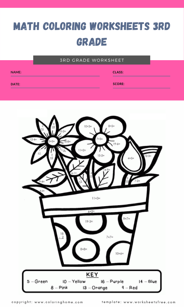 Math Coloring Worksheets 3rd Grade : Coloring Pages Worksheets Free