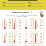 measurement worksheets grade 1 4