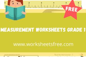 measurement worksheets grade 1