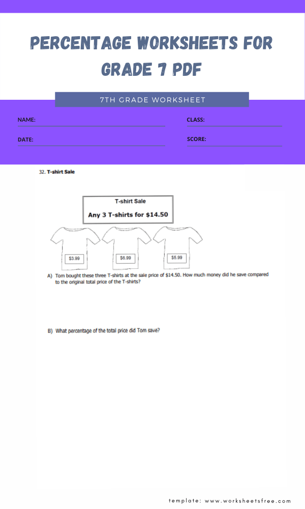 percentage worksheets for grade 7 pdf 4