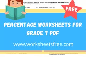 percentage worksheets for grade 7 pdf
