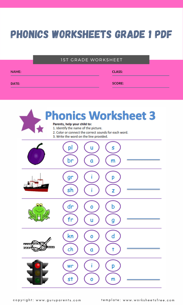 phonics worksheets grade 1 pdf 3