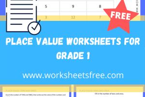 place value worksheets for grade 1