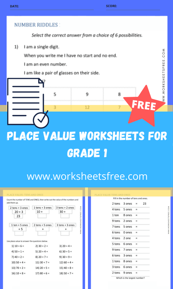 place value worksheets for grade 1