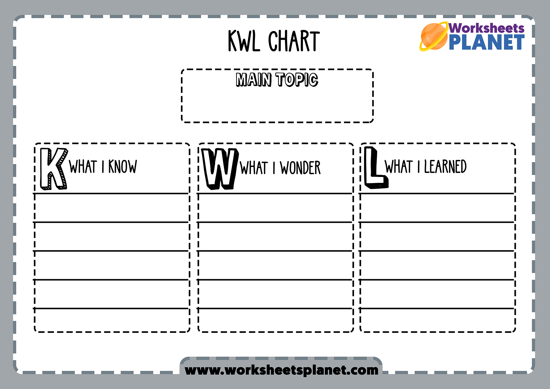 Thinking Skills Worksheets And Templates For Kids