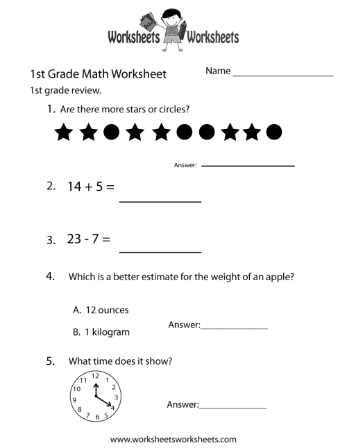 small resolution of First Grade Math Practice Worksheet   Worksheets Worksheets