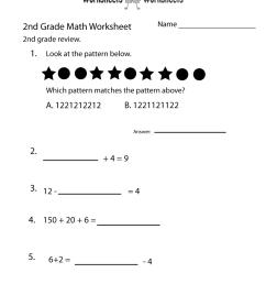 2nd Grade Math Review Worksheet   Worksheets Worksheets [ 1035 x 800 Pixel ]