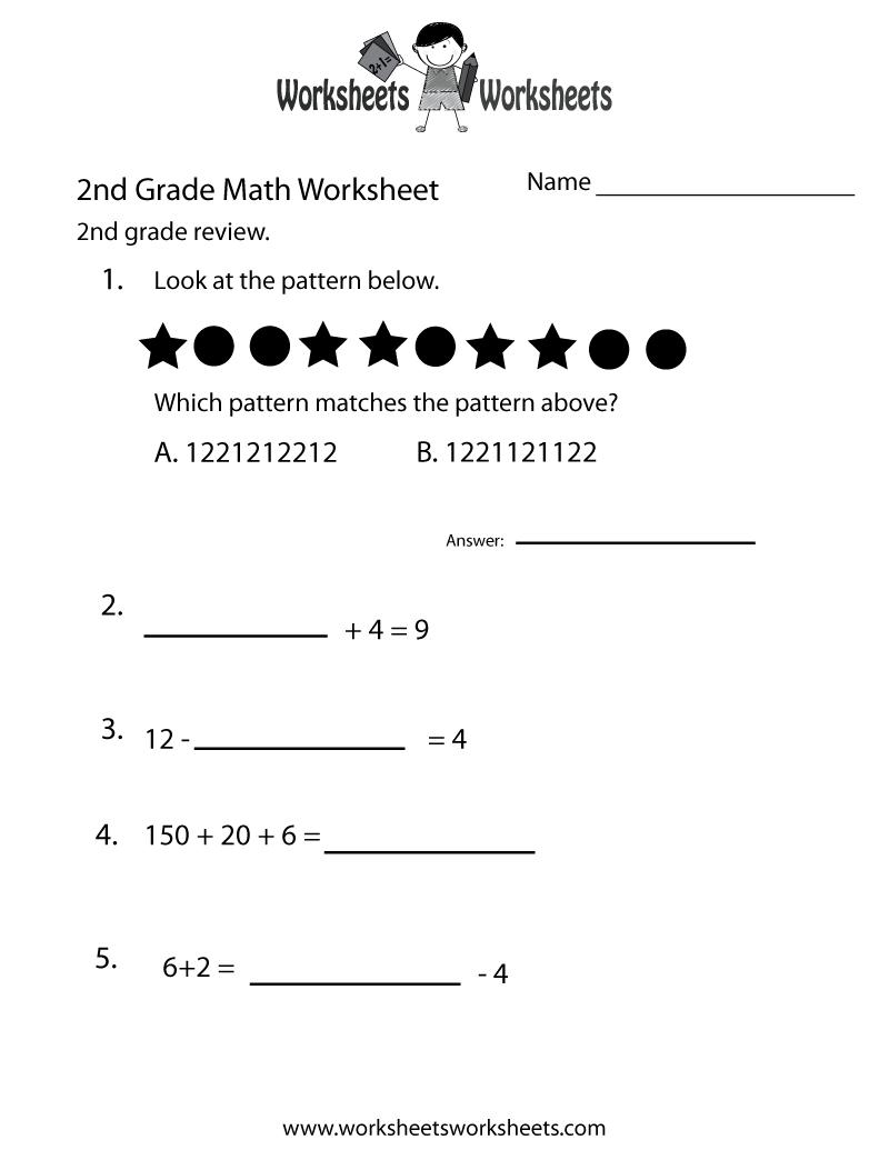medium resolution of 2nd Grade Math Review Worksheet   Worksheets Worksheets