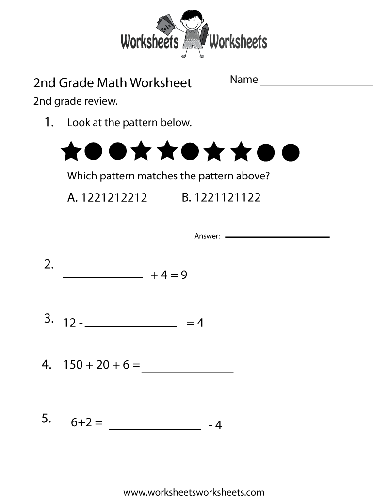 hight resolution of 2nd Grade Math Review Worksheet   Worksheets Worksheets