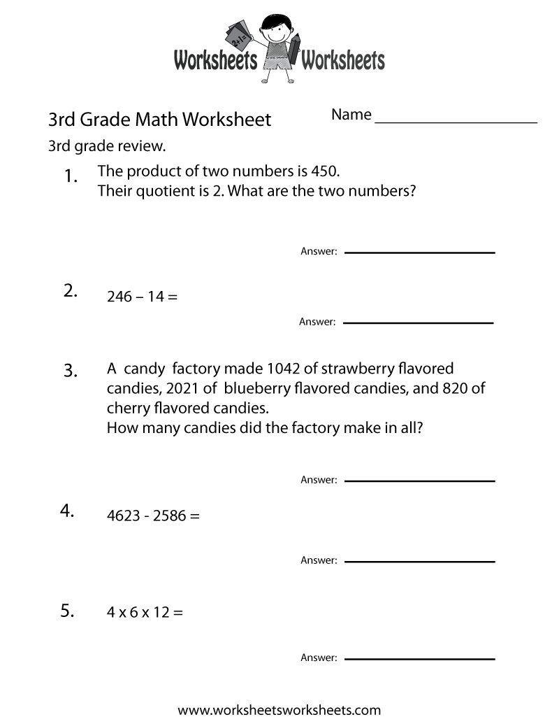 hight resolution of Third Grade Math Practice Worksheet   Worksheets Worksheets
