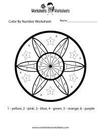 Color By Number Math Worksheet - Free Printable ...