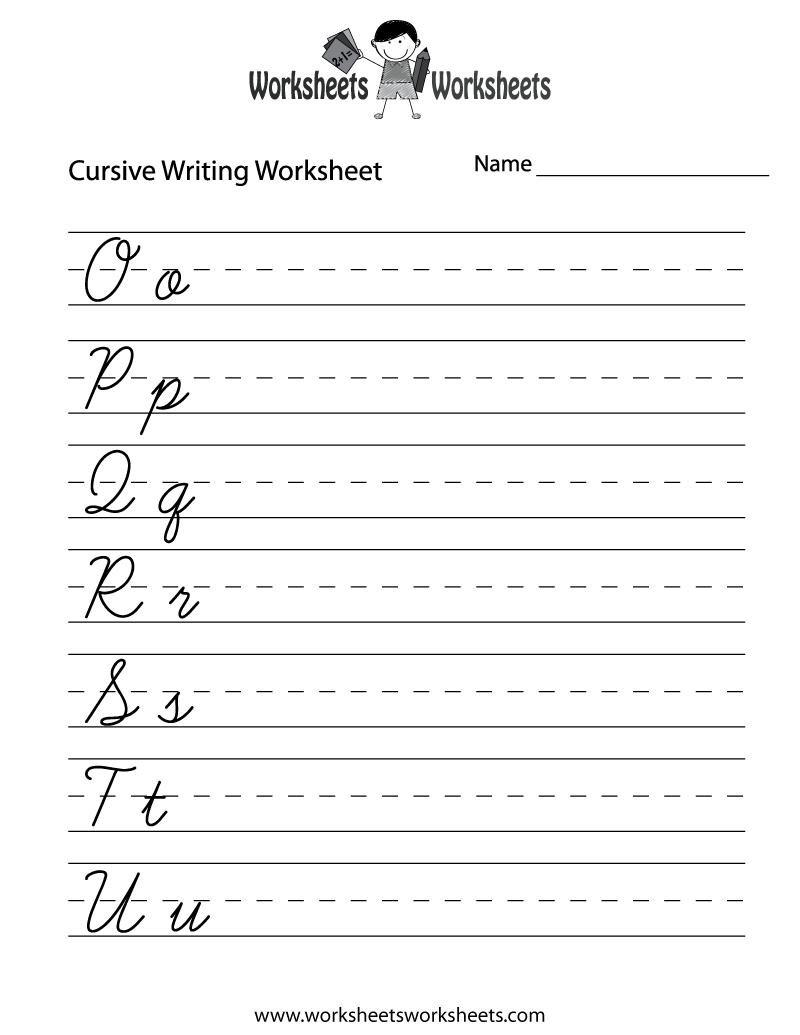 medium resolution of Easy Cursive Writing Worksheet   Worksheets Worksheets