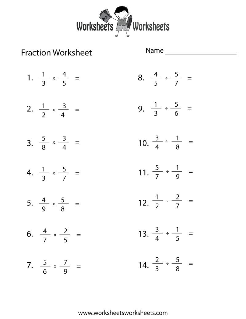 hight resolution of Fraction Review Worksheet   Worksheets Worksheets