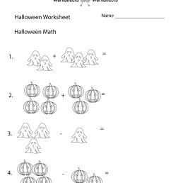 Halloween Math Worksheet   Worksheets Worksheets [ 1035 x 800 Pixel ]