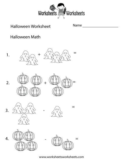 small resolution of Halloween Math Worksheet   Worksheets Worksheets