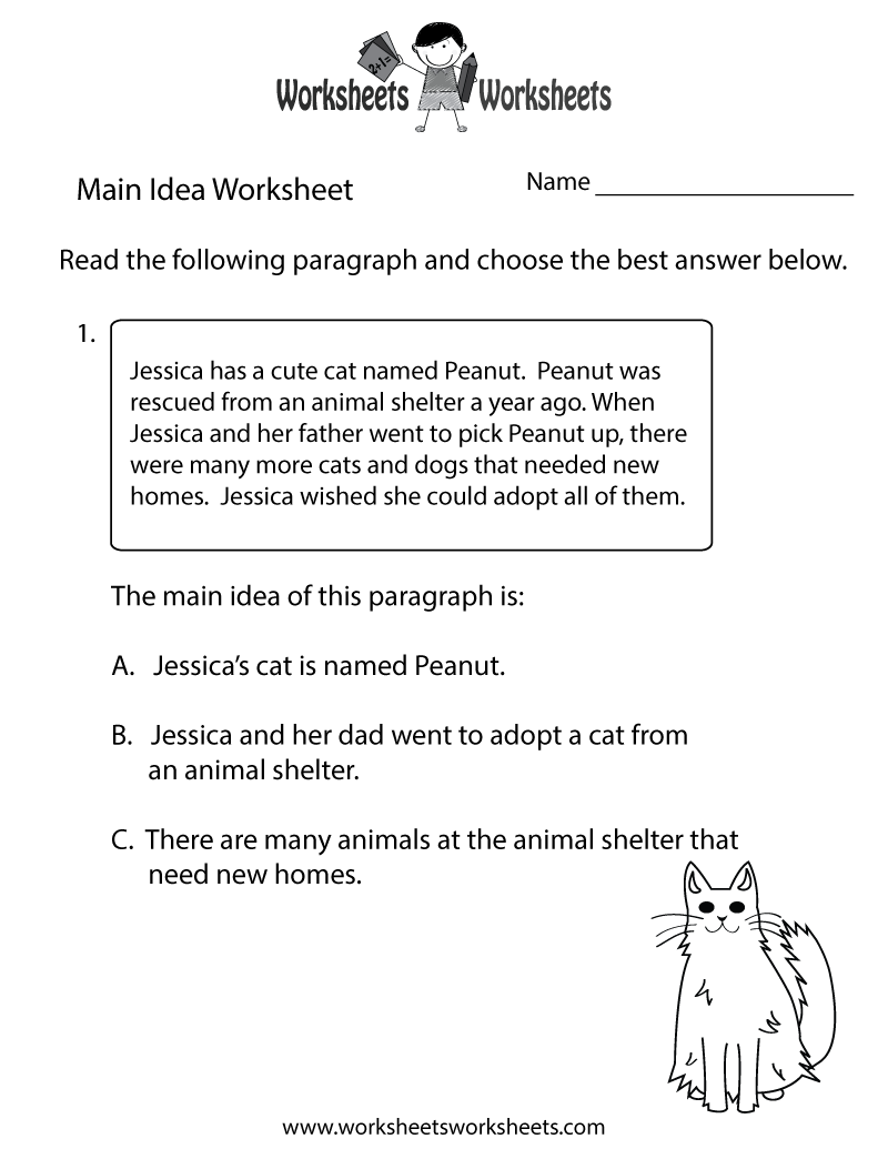 hight resolution of Finding the Main Idea Worksheet   Worksheets Worksheets
