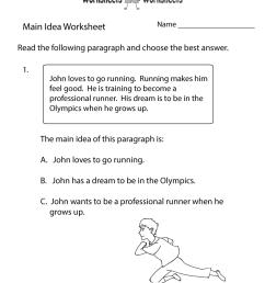 Main Idea Practice Worksheet   Worksheets Worksheets [ 1035 x 800 Pixel ]