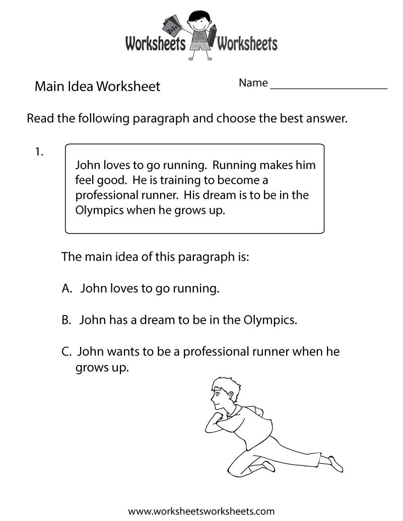 hight resolution of Main Idea Practice Worksheet   Worksheets Worksheets