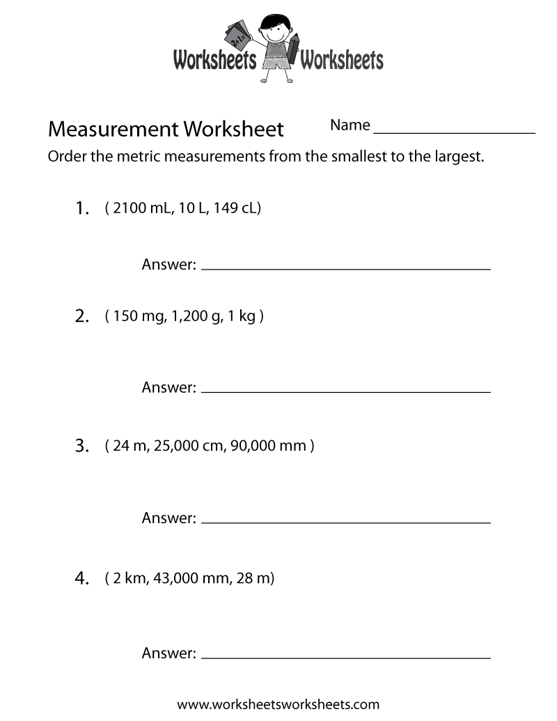 Metrics Worksheet Worksheets For School Roostanama
