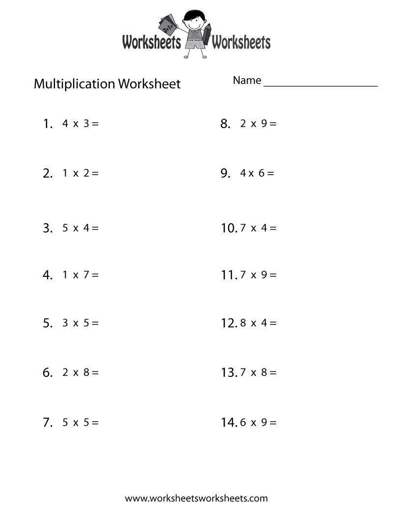 Grade Worksheets Math Seventh