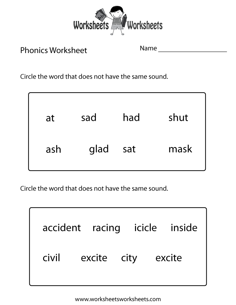 medium resolution of First Grade Phonics Worksheet   Worksheets Worksheets