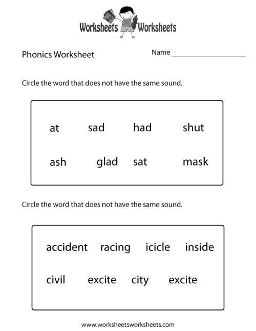 small resolution of First Grade Phonics Worksheet   Worksheets Worksheets