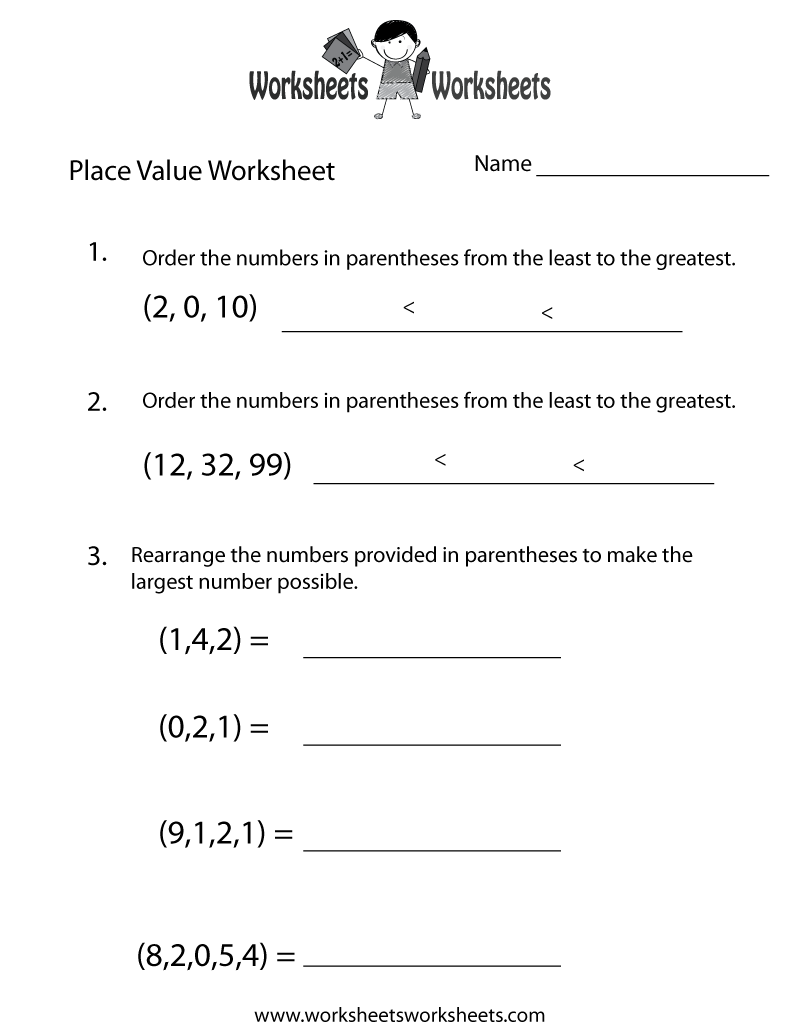 hight resolution of Place Value Test Worksheet   Worksheets Worksheets