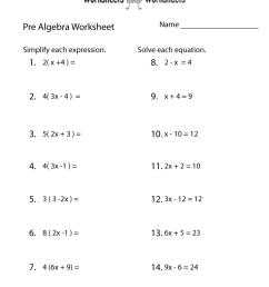 Pre-Algebra Review Worksheet   Worksheets Worksheets [ 1035 x 800 Pixel ]