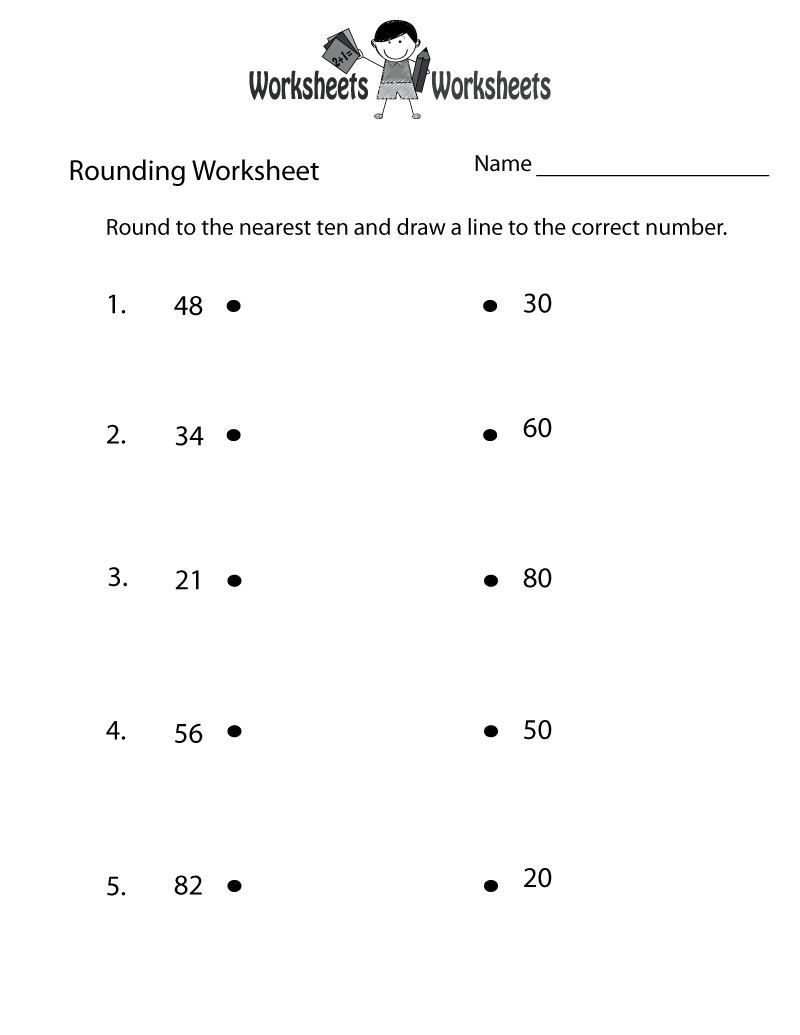 medium resolution of Rounding Whole Numbers Worksheet   Worksheets Worksheets