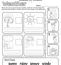 Weather Worksheet for Kids   Worksheets Worksheets [ 1035 x 800 Pixel ]